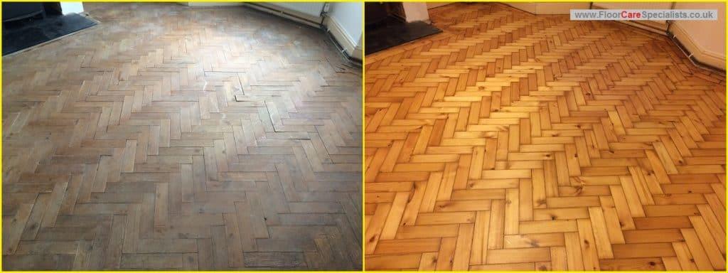 Pitch Pine Floor Sanding in Market Harborough, Leicestershire - www.FloorCareSpecialists.co.uk